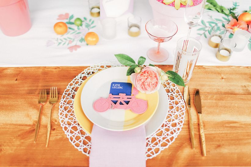 modern colorful place setting - gideon photography