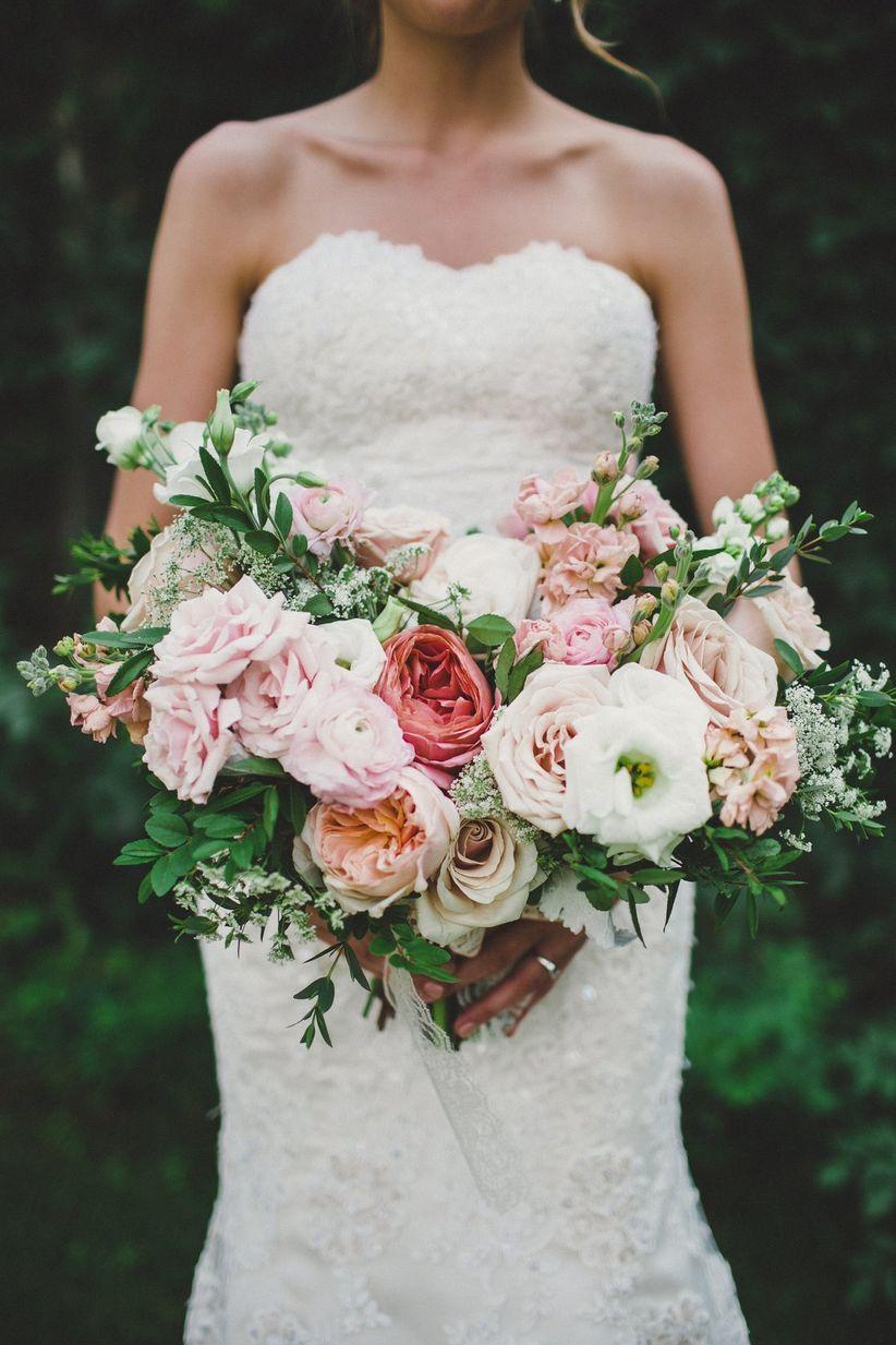 romantic heart-shaped summer rose bouquet - sugar + soul photography