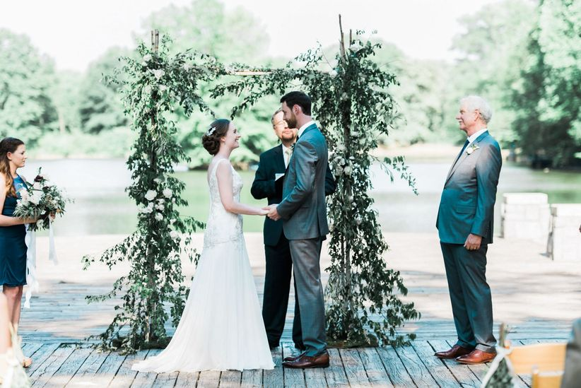 ceremony greenery arbor