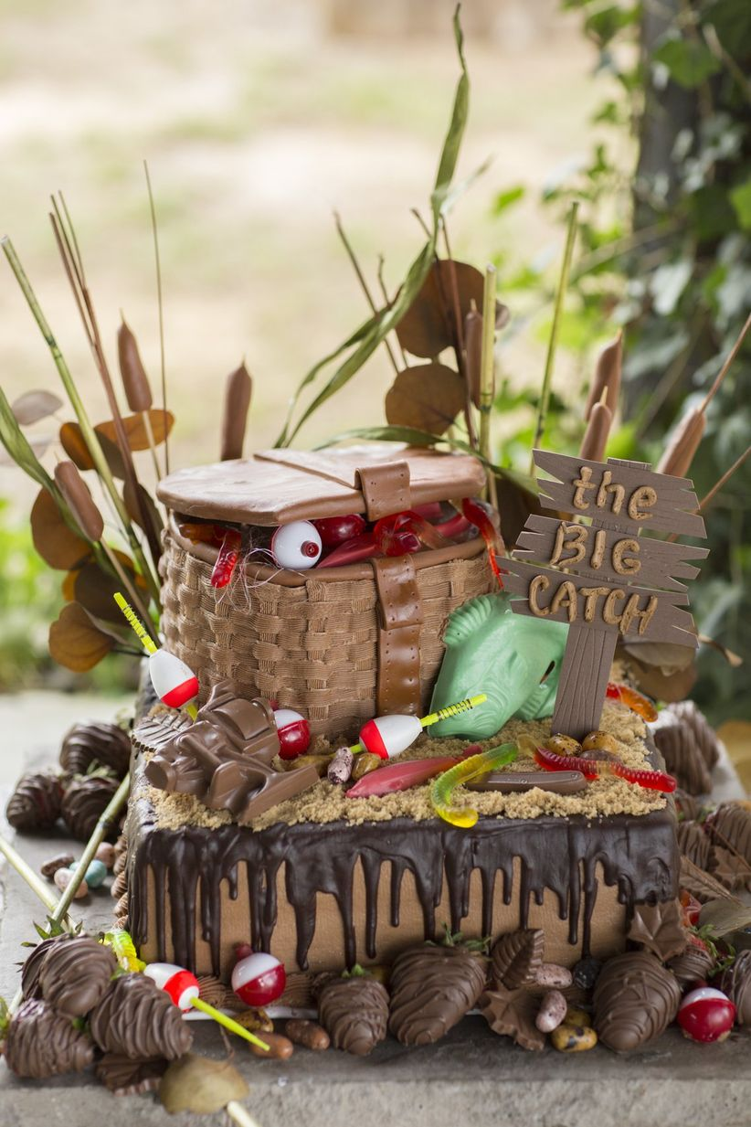 fishing-themed grooms cake - mandy owens wedding photography