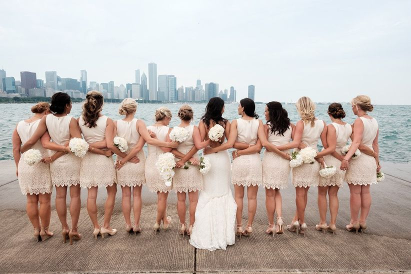Ryan Davis Photography   <li>Bridesmaids in short dresses