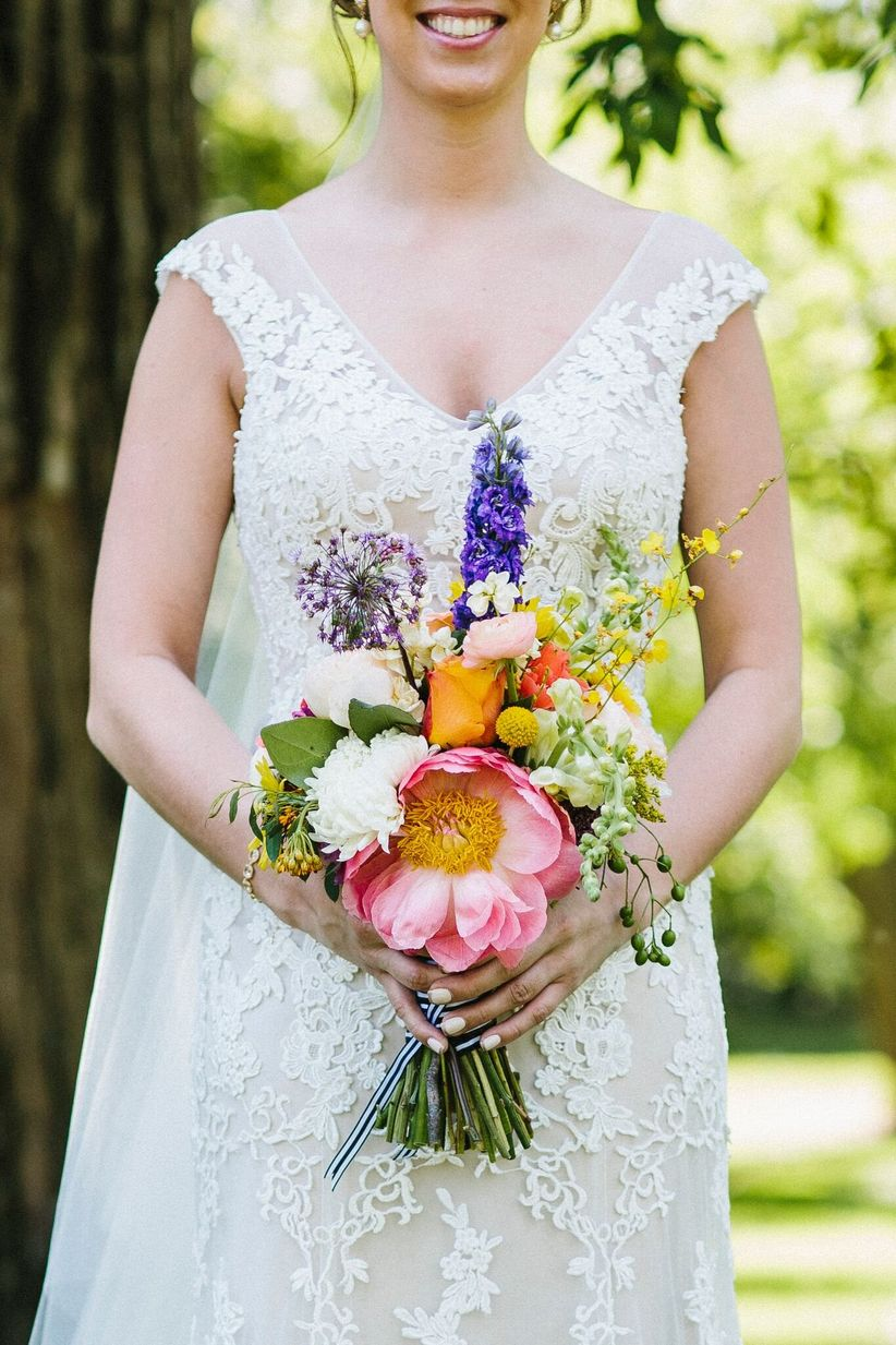 hand-picked bouquet colorful bright - glasser images