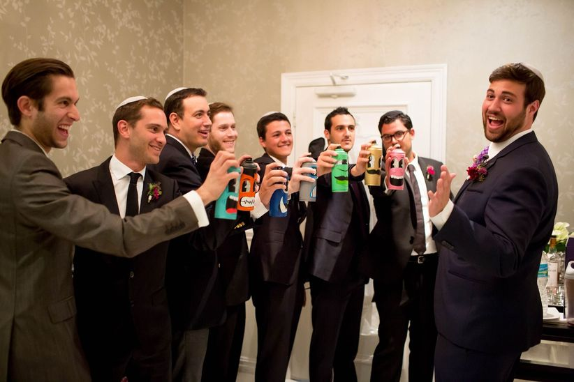 groomsmen holding spray paint cans - gloria ruth photography