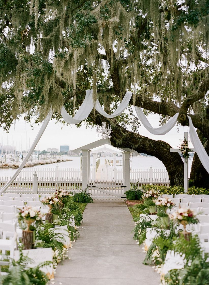 fabric trees ceremony structure
