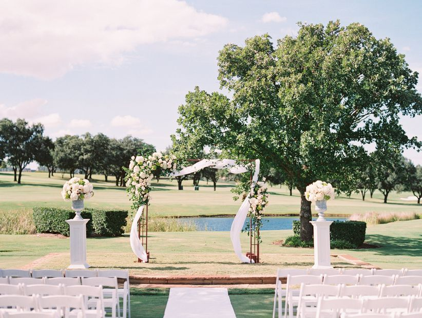 wooden arbor ceremony