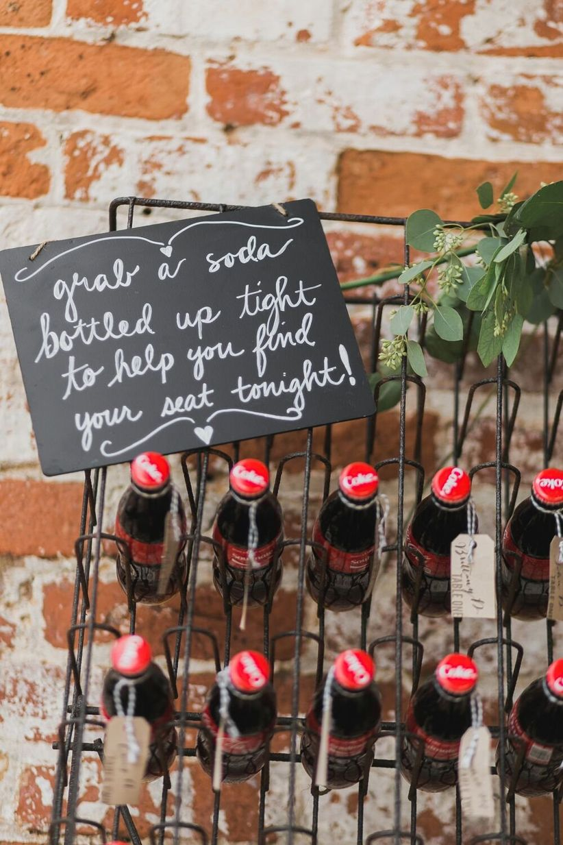 vintage coca cola bottle favors <li>ashley marks photography
