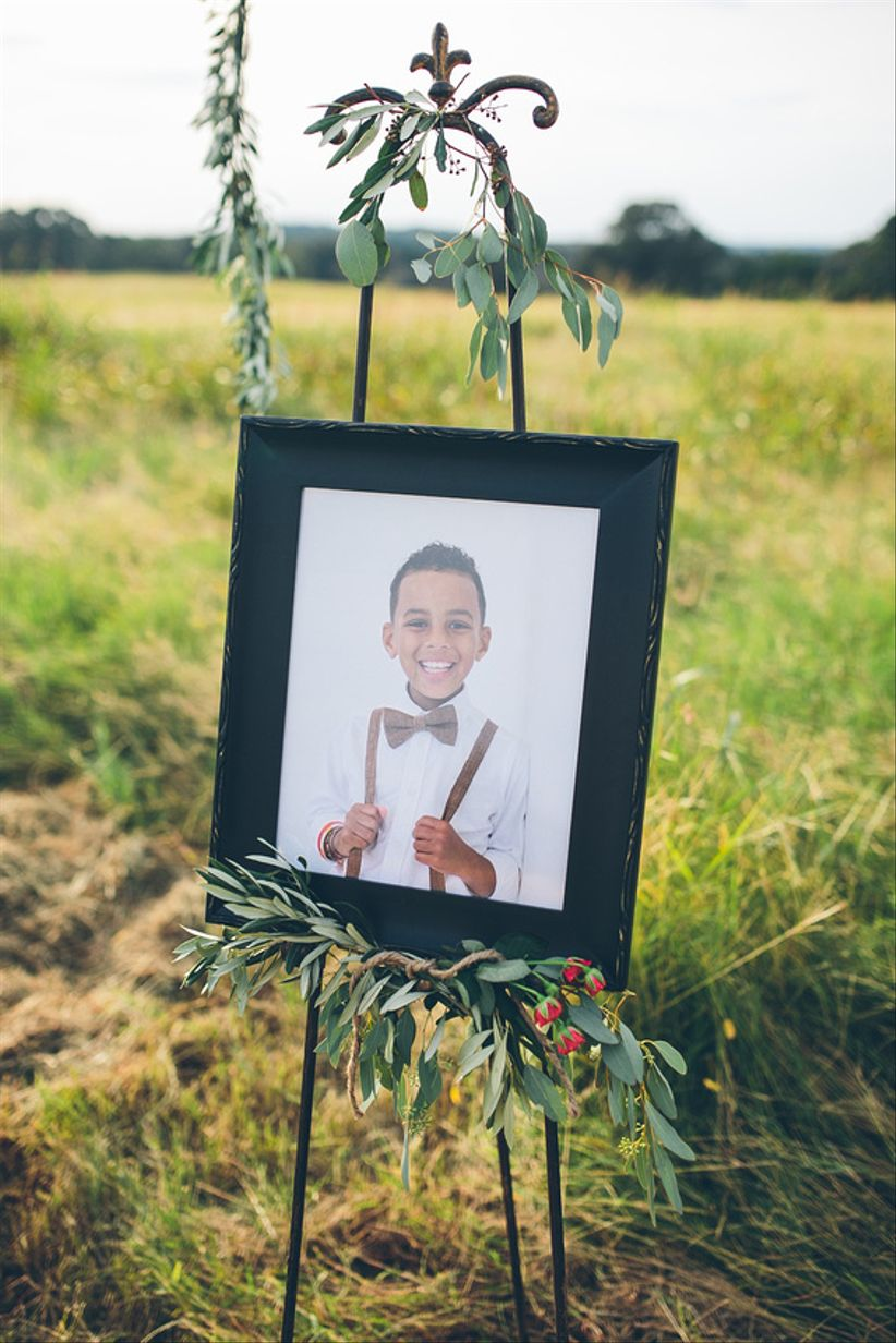 framed photo display at altar - brandy angel photography