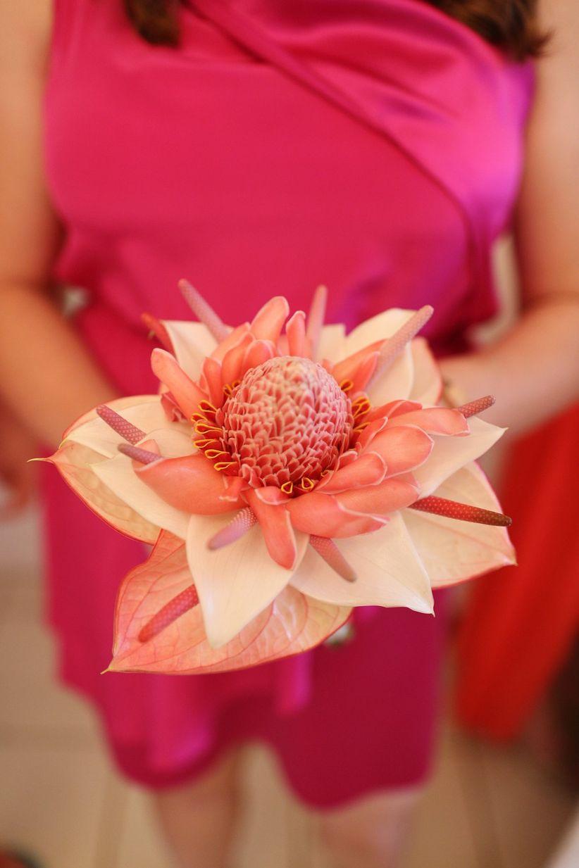 tropical anthurium summer bouquet - gideon photography