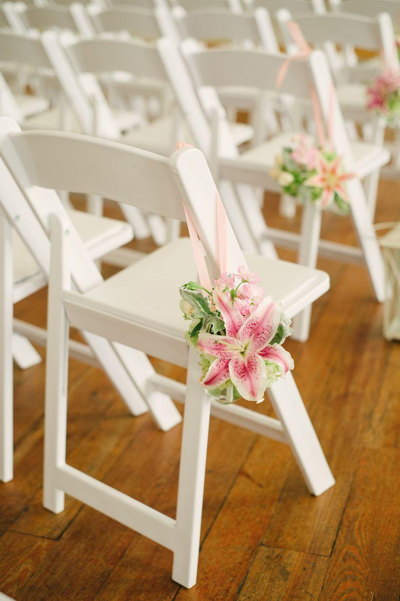 stargazer lily aisle marker
