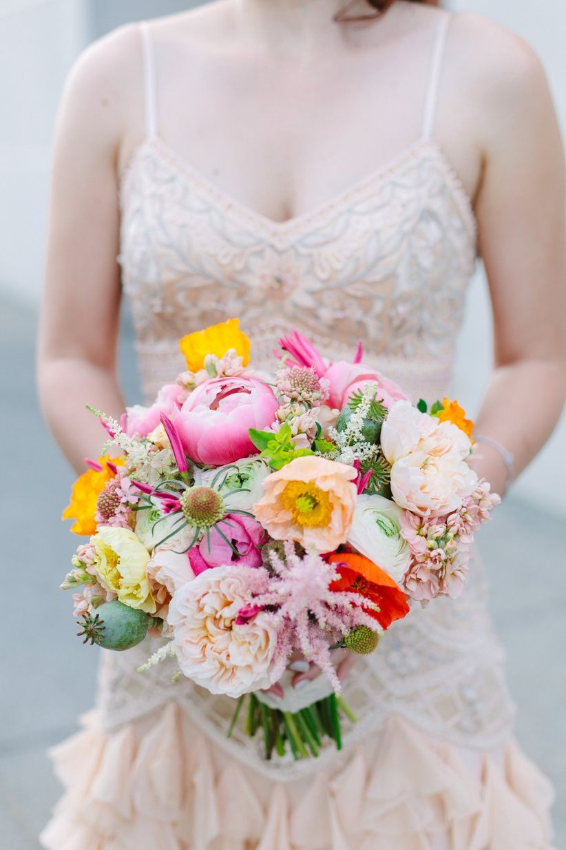 24 Colorful And Cheerful Spring Bouquets Weddingwire