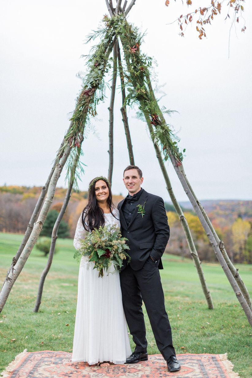 boho chic wedding ceremony