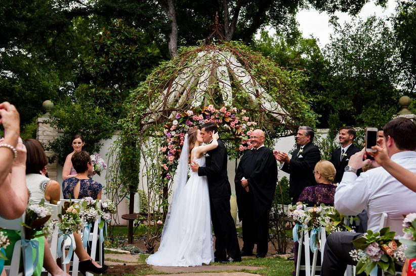 greenery gazebo ceremony structure