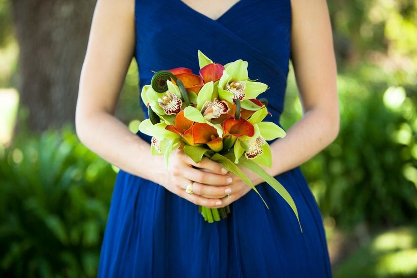 modern orchid and calla lily boutonniere - GB photographers