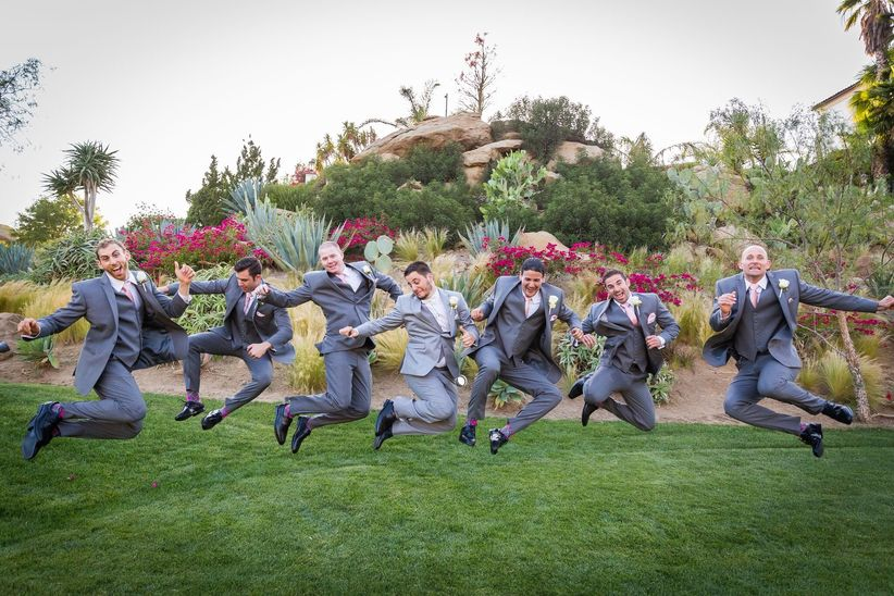 groomsmen jumping photo - lark photography & video