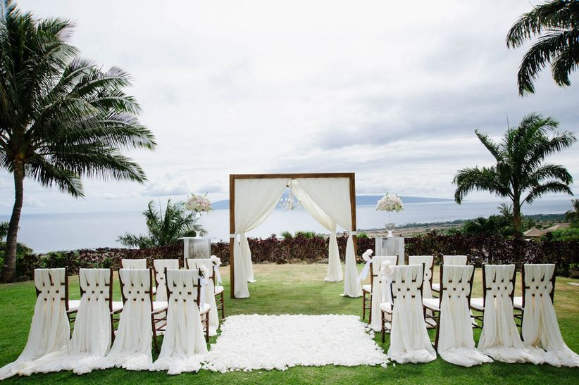 white ceremony structure
