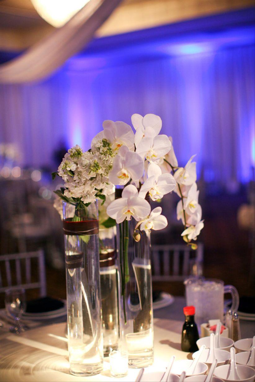 modern orchid centerpiece