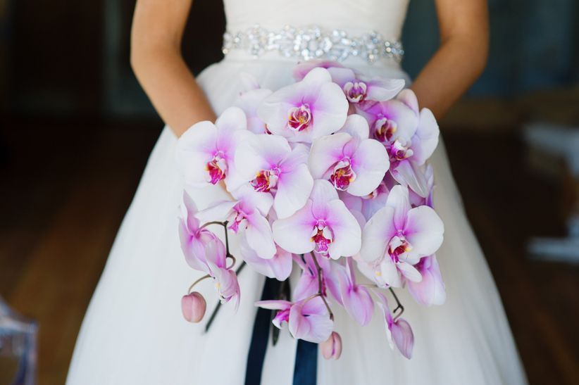 pink phalaenopsis orchid bouquet