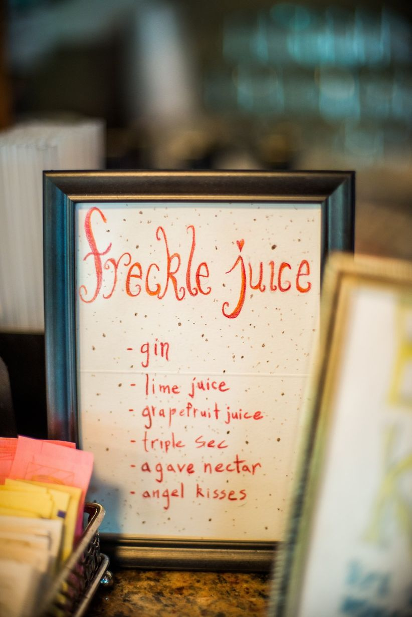 signature cocktail sign - marianne wiest photography