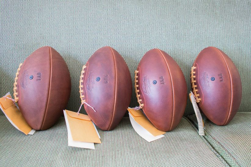 groomsmen gift footballs - thompson photography group