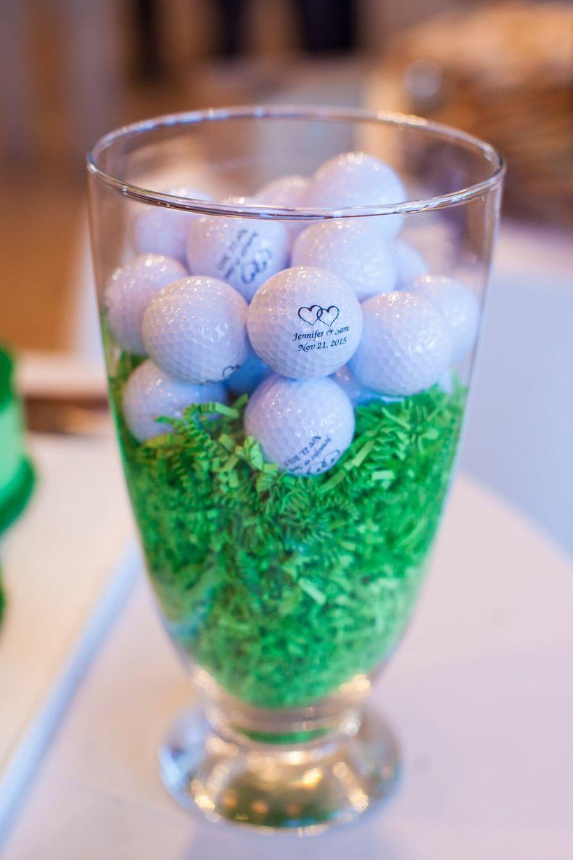 golf ball favors display <li>jennifer weems photography