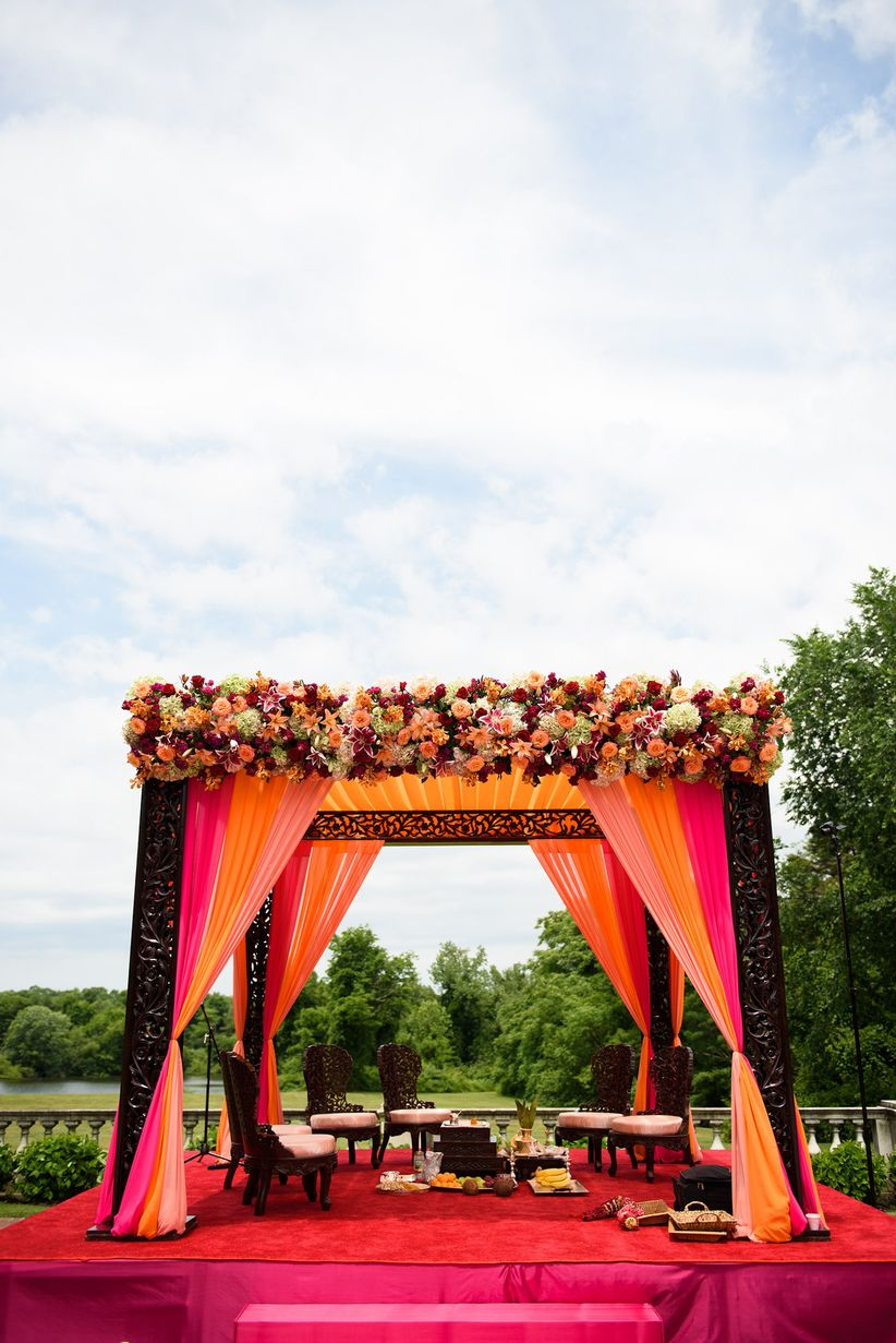 indian colorful mandap