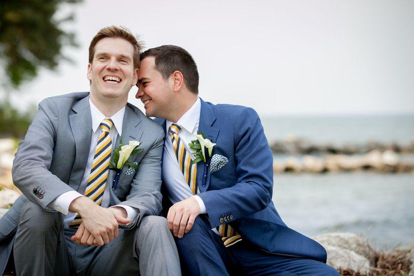 What wear gay wedding