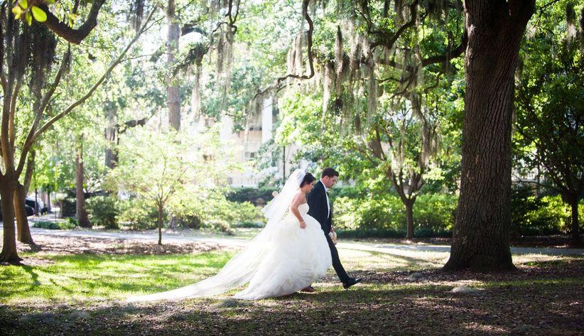 Wedding in Forsyth Park Savannah