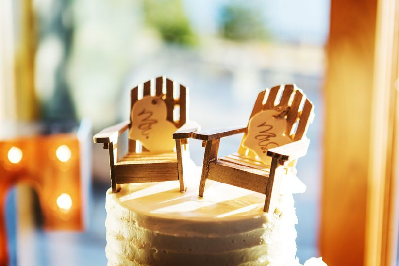 adirondack chair cake topper