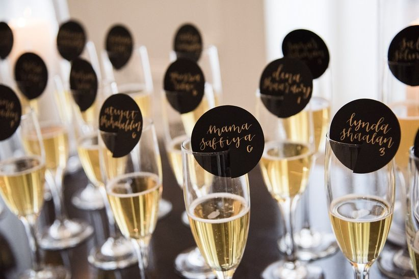 bridal shower champagne glasses
