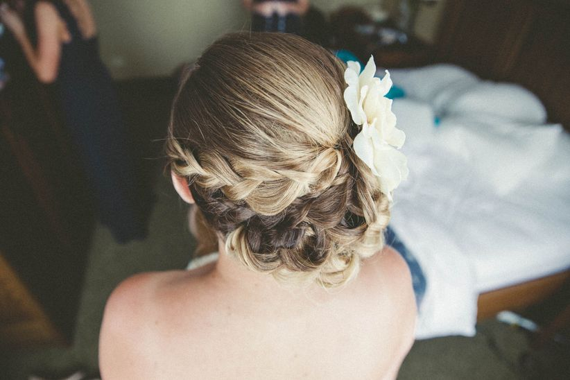 bridesmaids halo braid flower accessory