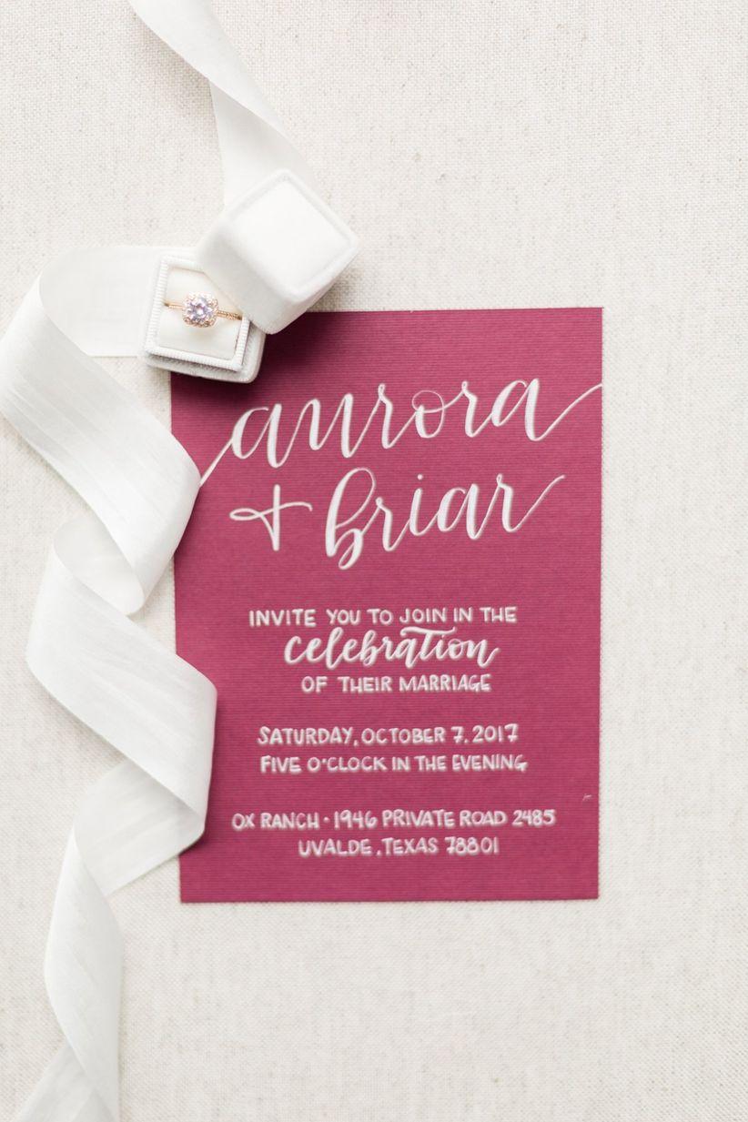 modern fall wedding invitation