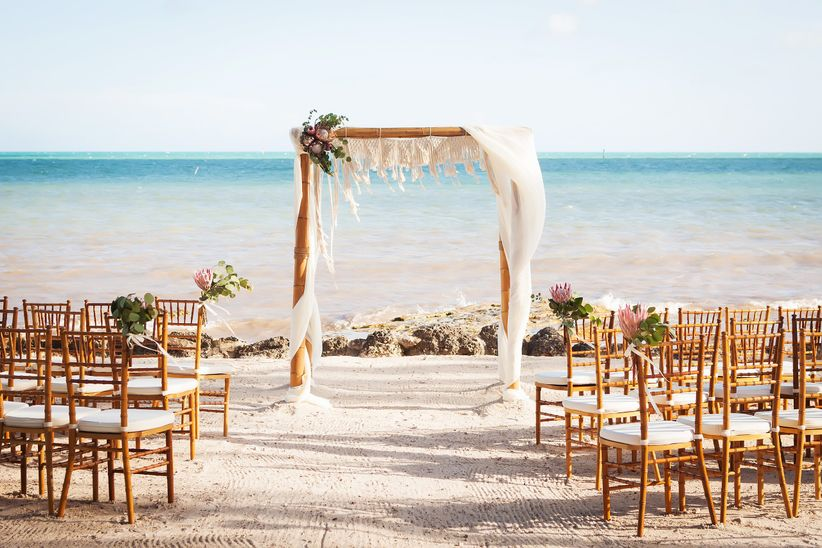 beach wedding backdrop ideas