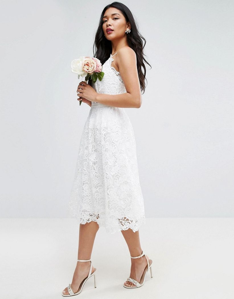 asos cami wedding dress