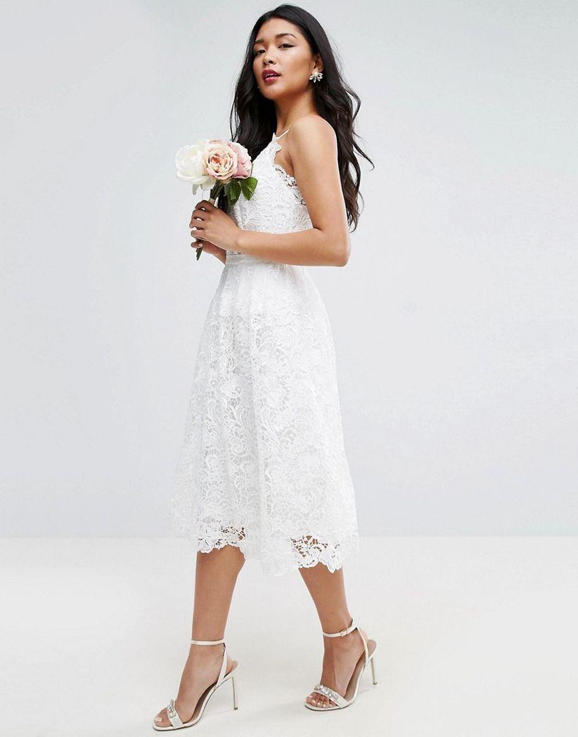 asos cami wedding dress