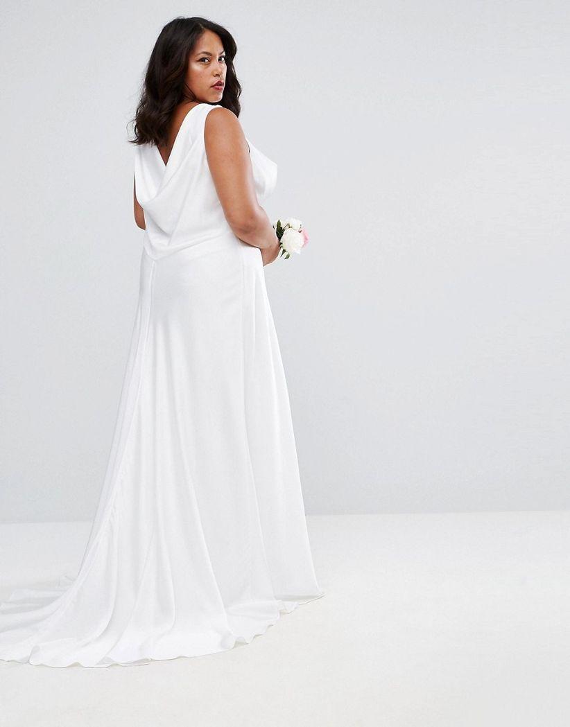 asos curve bridal