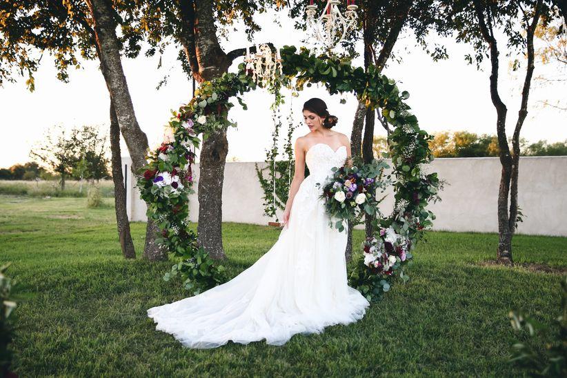 floral arch wedding backdrop