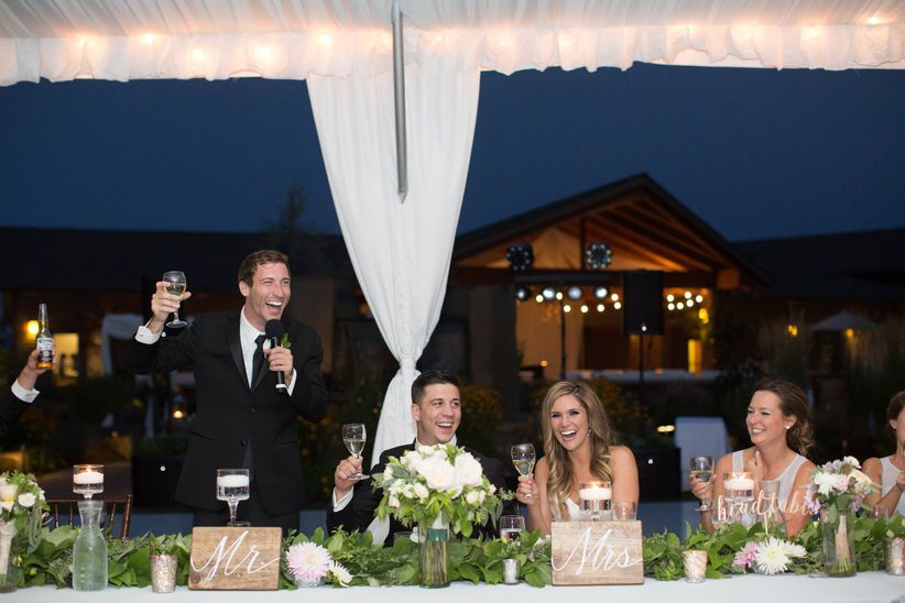 20 Things Not To Say During A Wedding Toast Weddingwire