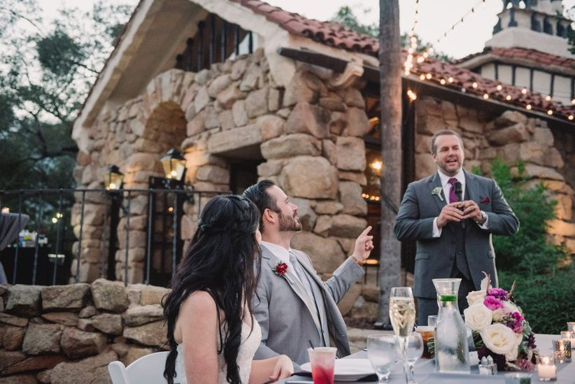 best man speech toast outdoor wedding reception