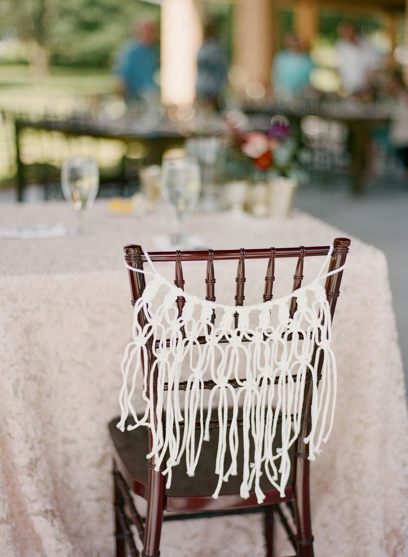 macrame wedding chair