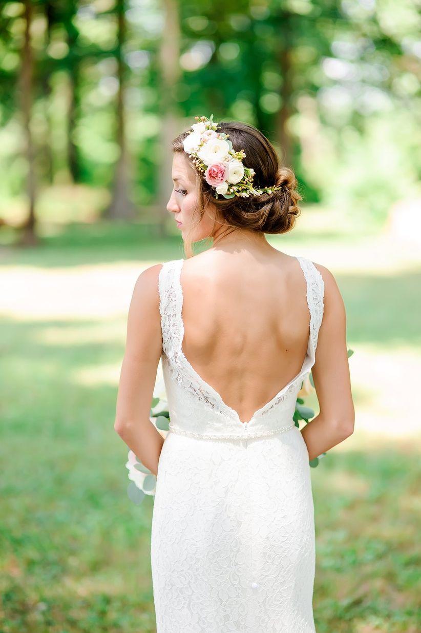 flower hairstyle bride