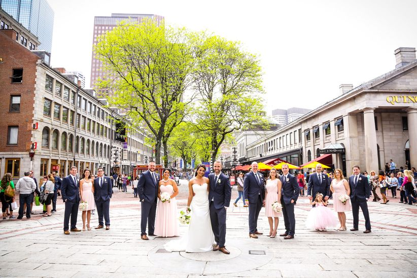 wedding party in boston