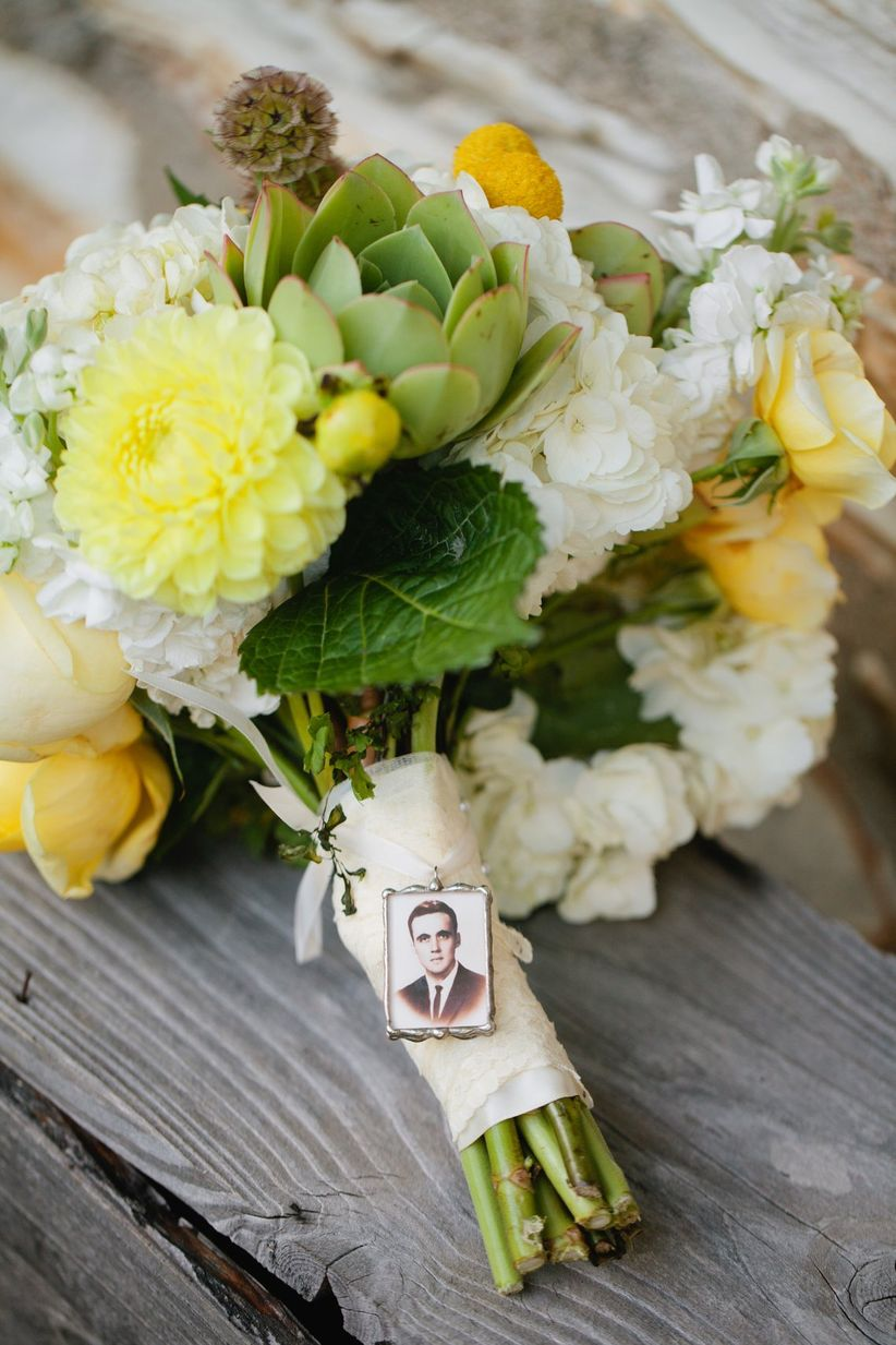 bouquet charm with photo