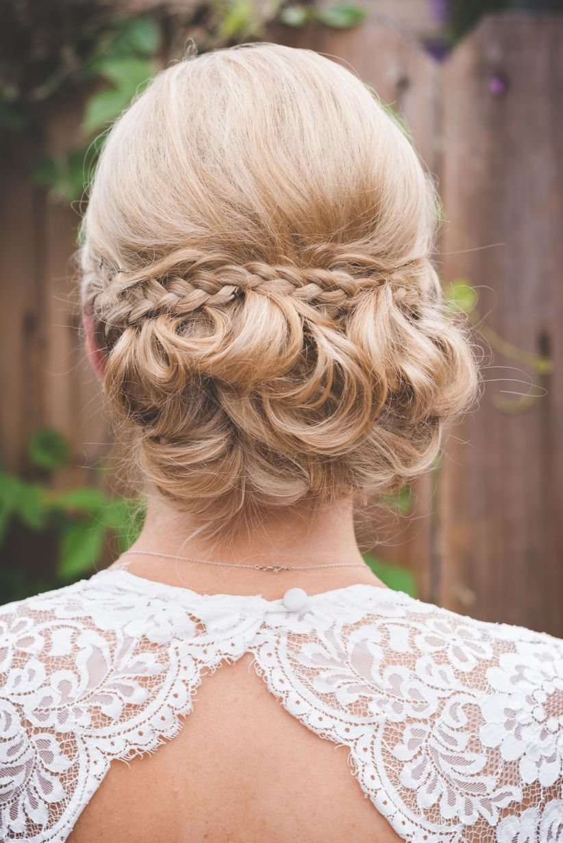 chignon hairstyle with braid