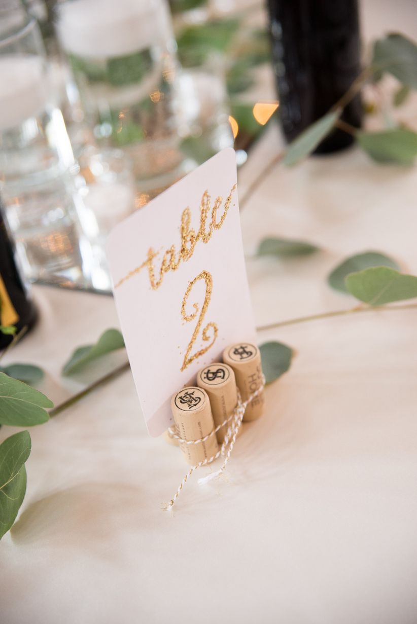 wine cork table number <li>brett loves elle photography