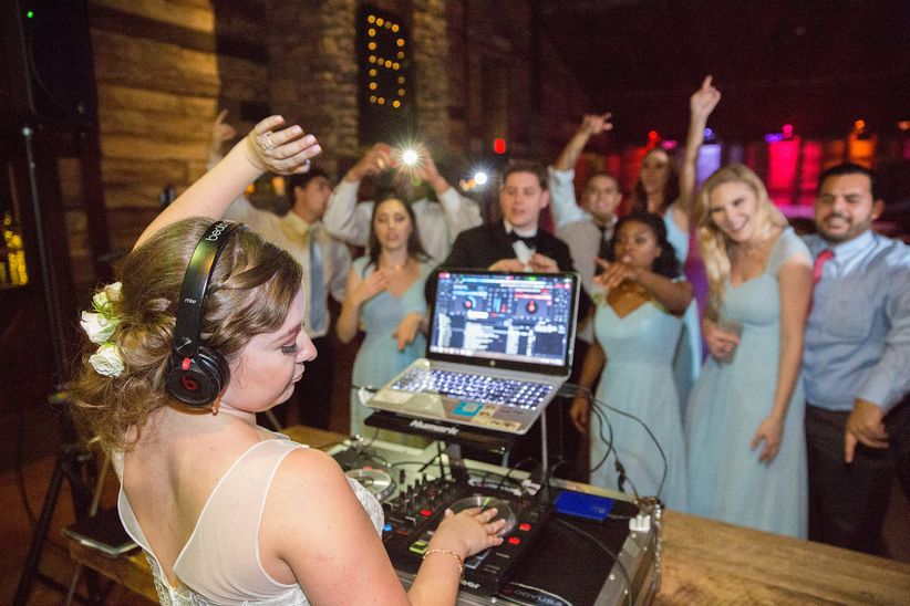 bride as wedding dj mycelle levan photography