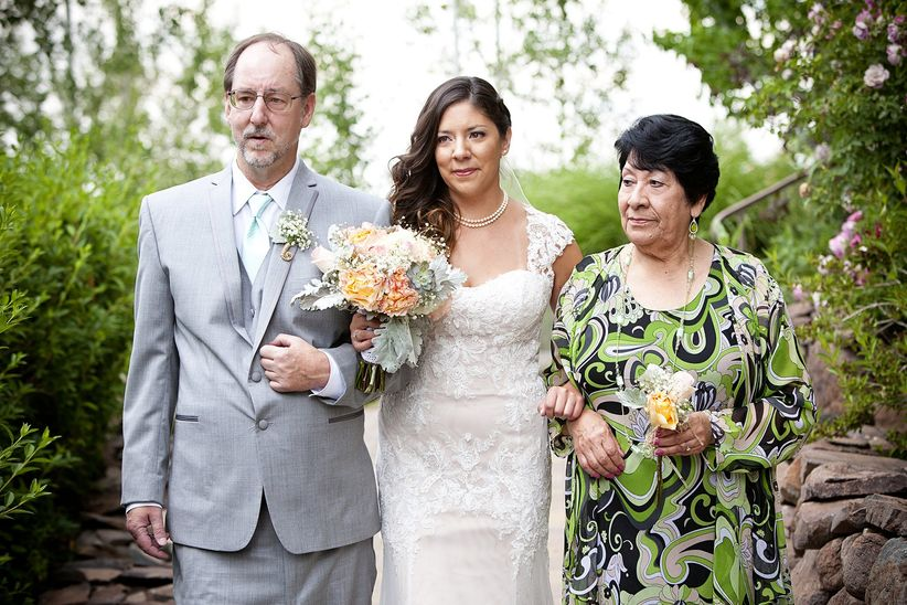 bride processional with both parents