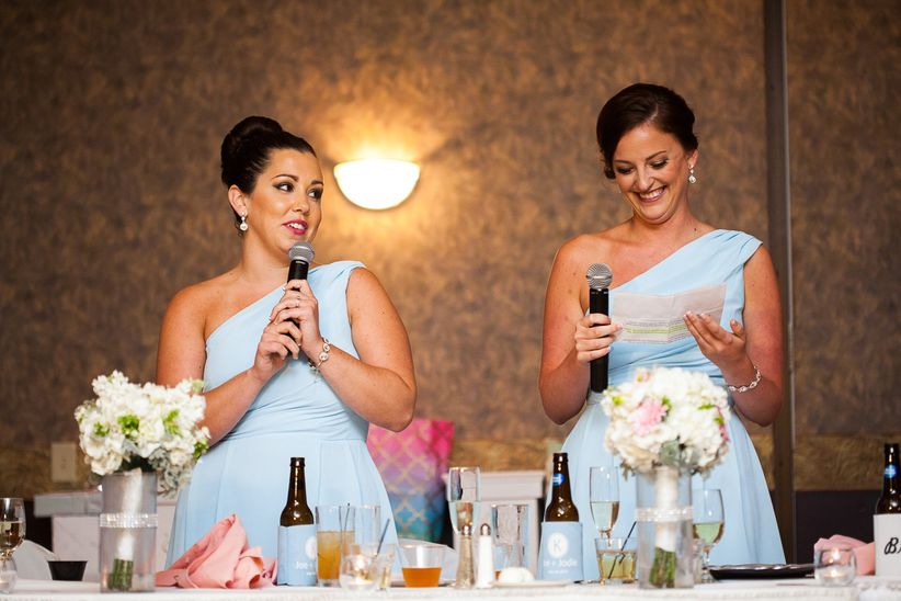 bridesmaids giving toast