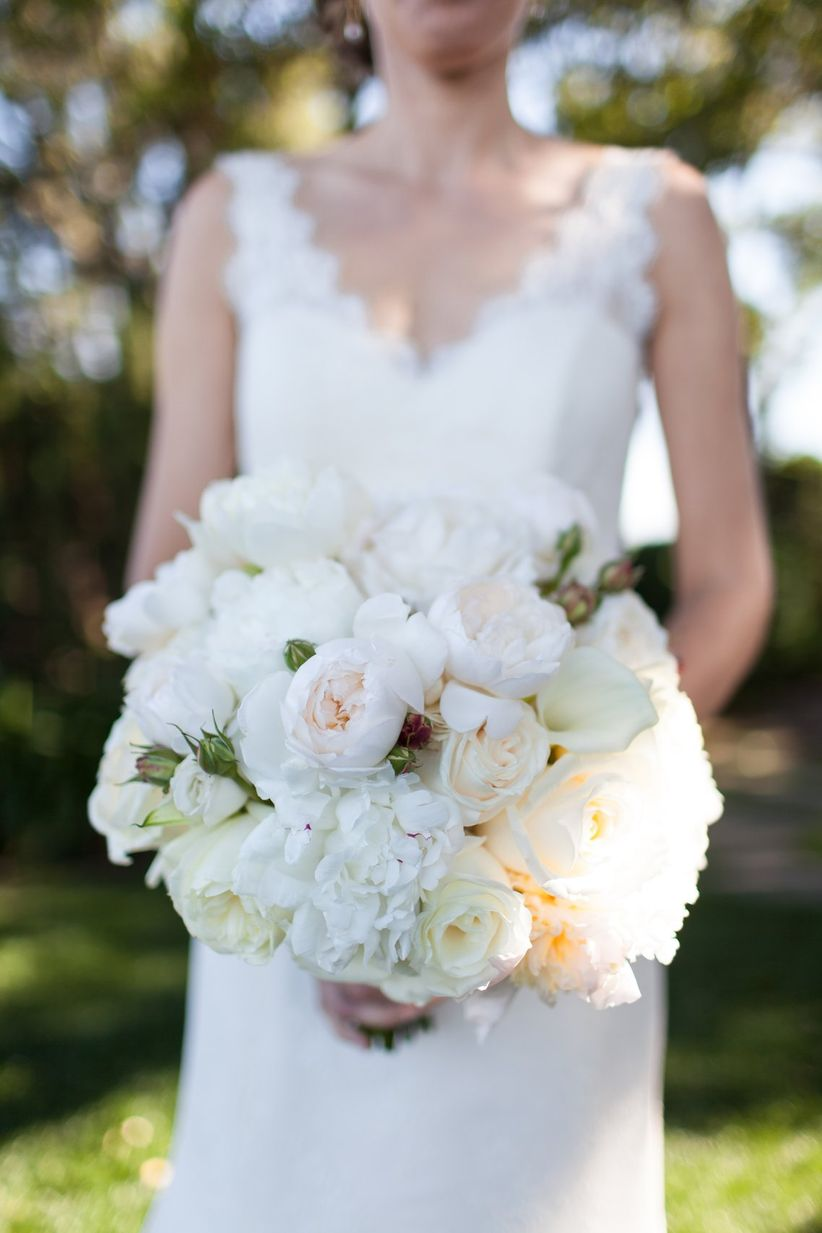 Garden Weddings Ideas 27 swoon worthy garden wedding ideas weddingwire white peony wedding bouquet workwithnaturefo