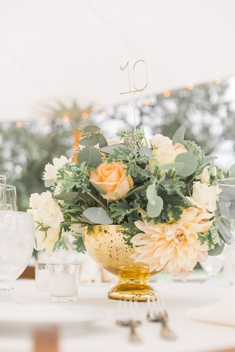garden wedding centerpieces