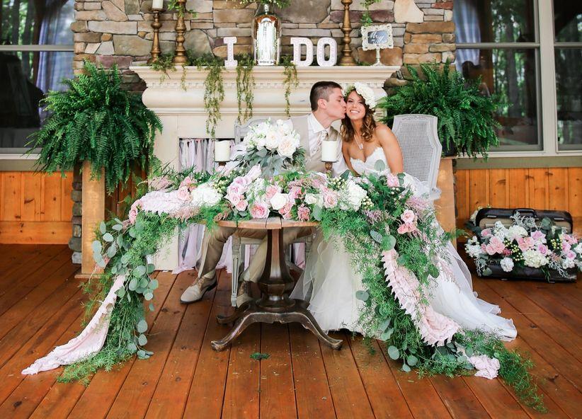 couple sweetheart table kelli carrico photography